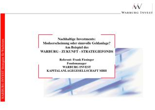 WARBURG INVEST Strategien für Wachstum