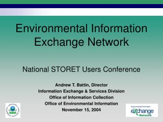 Environmental Information  Exchange Network
