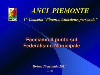 Facciamo il punto sul Federalismo Municipale