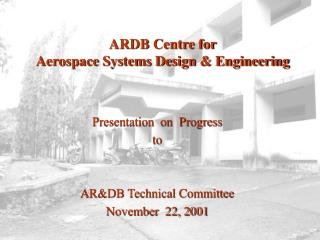 ARDB Centre for  Aerospace Systems Design & Engineering