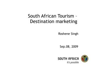 South African Tourism   Destination marketing