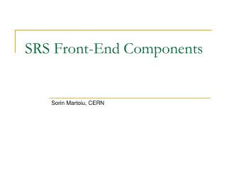 SRS Front-End Components