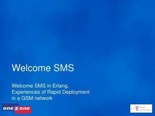 Welcome SMS