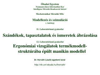 Modellezés és szimuláció c. tantárgy