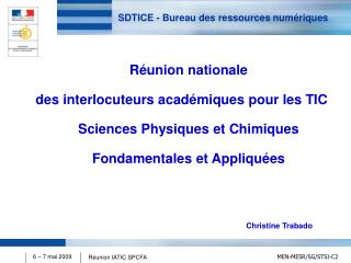 SDTICE - Bureau des ressources num�riques