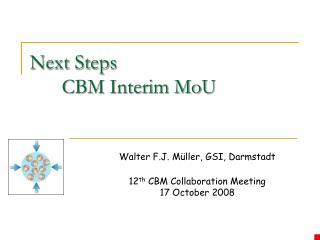Next Steps CBM Interim MoU