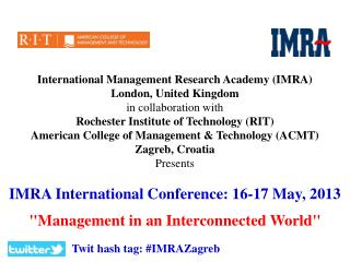 International Management Research Academy (IMRA)  London, United Kingdom in collaboration with