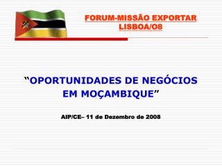FORUM-MISSÃO EXPORTAR LISBOA/O8