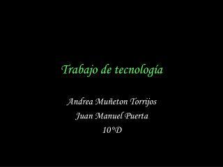 Trabajo de tecnolog�a