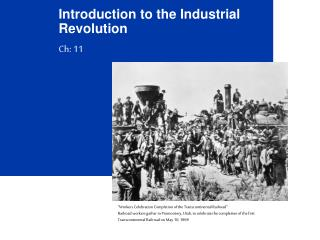 Introduction to the Industrial Revolution