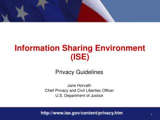 Information Sharing Environment (ISE)