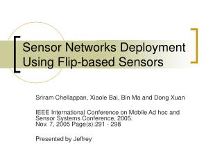 Sensor Networks Deployment Using Flip-based Sensors