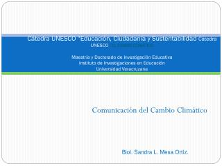 Comunicación del Cambio Climático