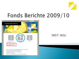 Fonds Berichte 2009/10