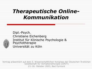 Therapeutische Online-Kommunikation