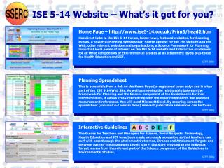 ISE 5-14 Website – What's it got for you?