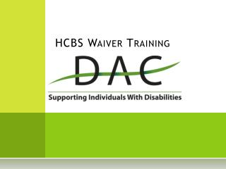 HCBS Waiver Training