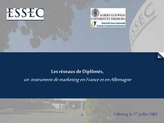 Les réseaux de Diplômés, un instrument de marketing en France et en Allemagne