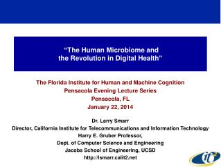 """The Human Microbiome and  the Revolution in Digital Health"""