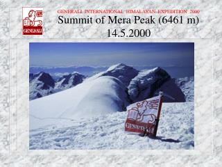 Summit of Mera Peak (6461 m) 14.5.2000