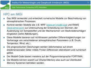 Institut für Meteorologie und Geophysik Innsbruck  (IMGI)