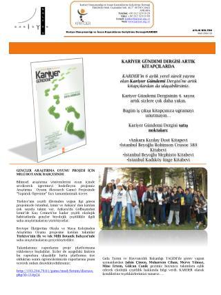 Kariyer Danışmanlığı ve İnsan Kaynaklarını Geliştirme Derneği-KARDER