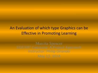 An Evaluation of  which  type Graphics  can be  Effective  in  Promoting Learning