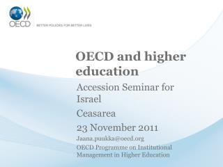 OECD and higher education