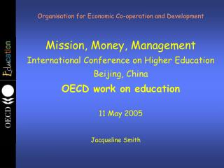 Organisation for Economic Co-operation and Development