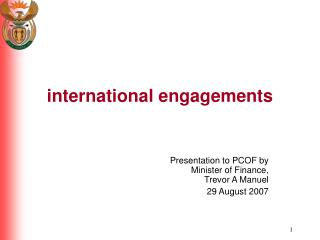 international engagements