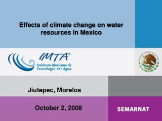 Effects of climate change on water resources in Mexico