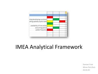 IMEA Analytical Framework