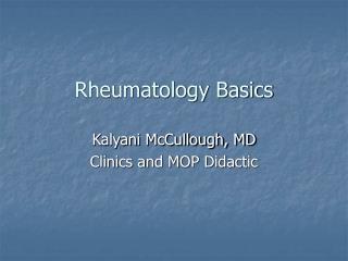 Rheumatology Basics