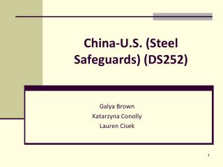 China-U.S. (Steel Safeguards) (DS252)