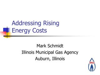 Addressing Rising Energy Costs