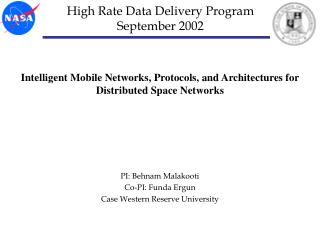 High Rate Data Delivery Program September 2002