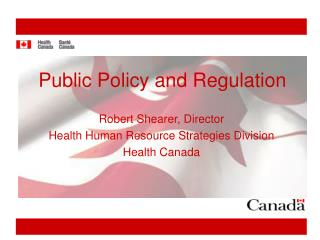 Public Policy and Regulation