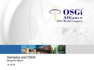 Gemplus and OSGI