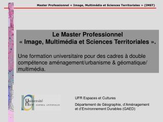 UFR Espaces et Cultures