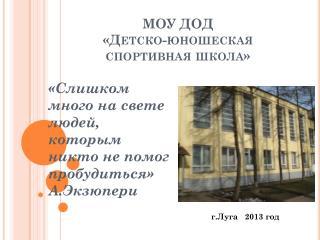 МОУ ДОД  «Детско-юношеская спортивная школа»