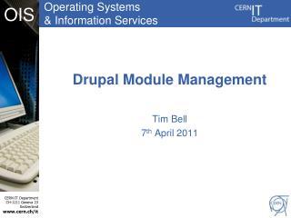 Drupal Module Management