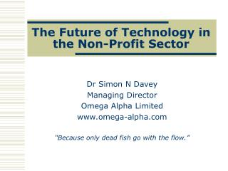 The Future of Technology in the Non-Profit Sector
