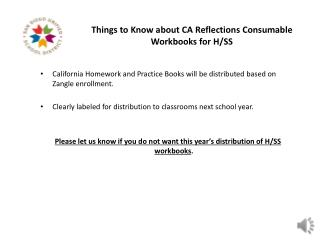 Things to Know about CA Reflections Consumable Workbooks for H/SS