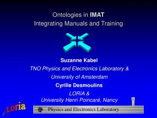 Ontologies in  IMAT Integrating Manuals and Training