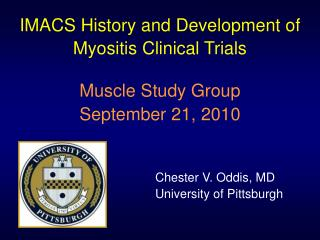 IMACS History and Development of Myositis Clinical Trials
