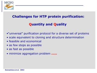 """""""universal"""" purification protocol for a diverse set of proteins"""