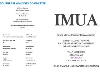 SOUTHEAST ADVISORY COMMITTEE