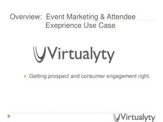 Virtualyty Events Use Case