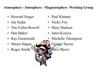 Atmosphere - Ionosphere - Magnetosphere  Working Group