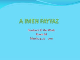 A IMEN FAYYAZ